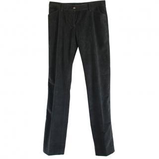 Dolce & Gabbana Grey Corduroy Trousers
