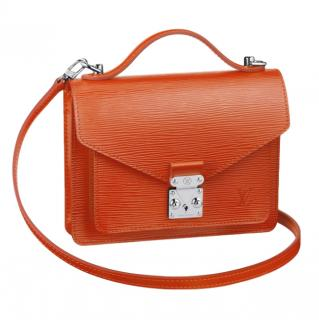 Louis Vuitton Orange Epi Leather Monceau BB shoulder bag