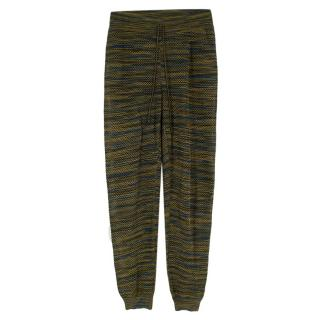 M Missoni Green/Blue Knit High waisted Trousers