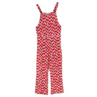 Stella McCartney Kids Pink Cherry patterned Jumpsuit