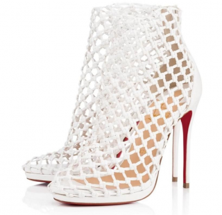 Christian Louboutin Porligat 120 Latte Caged Stiletto Boots