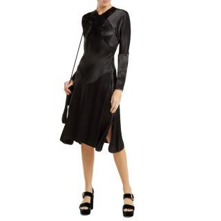 Vivienne Westwood Anglomania Black Satin Panelled Dress