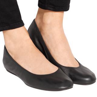 Lanvin Black Elasticated Ballerina Flats