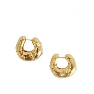 Rejina Pyo Iris Gold Plated Hoop Earrings