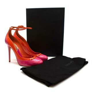 DSquared Pink and Orange Patent Leather Platform Pumps