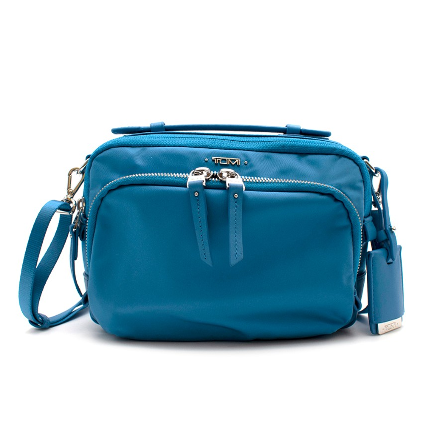 Tumi Small Baby Blue Nylon Crossbody Bag