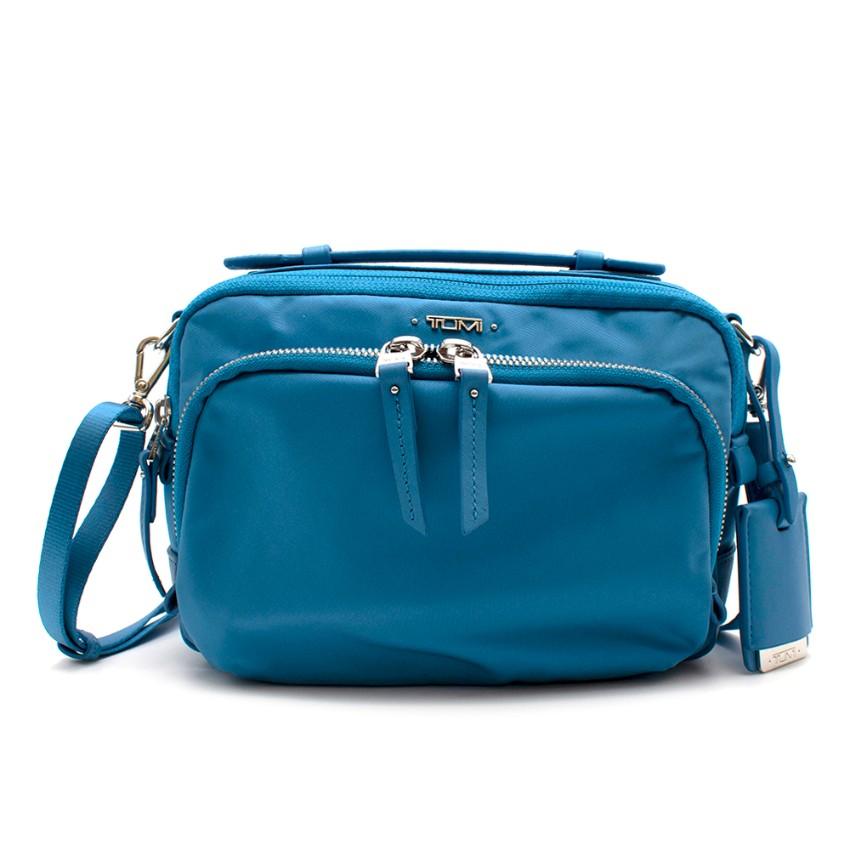 Tumi Small Baby Blue Nylon Crossbody Bag
