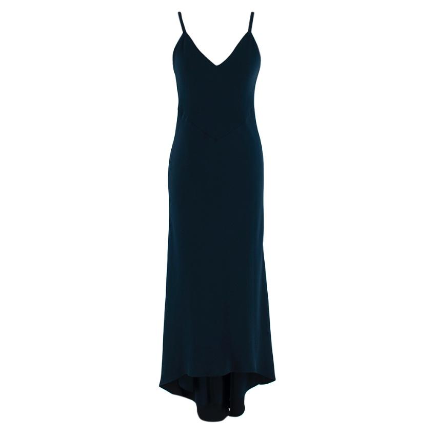 Alice + Olivia Navy Asymmetric Slip Dress