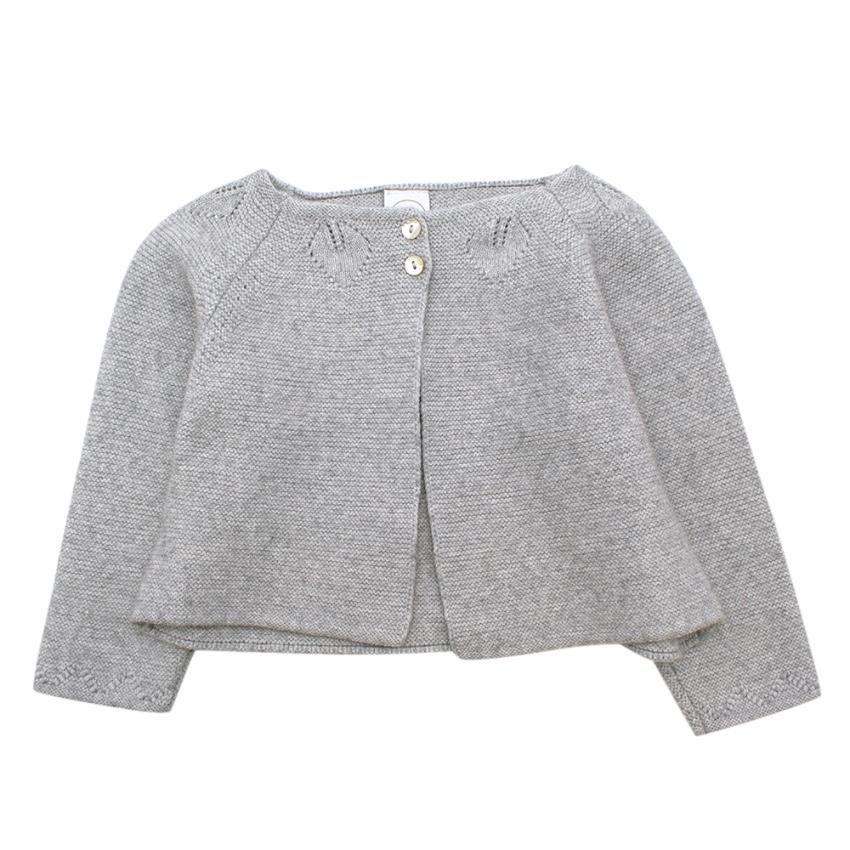 Pepa & Co Grey Wool blend Knit Cardigan