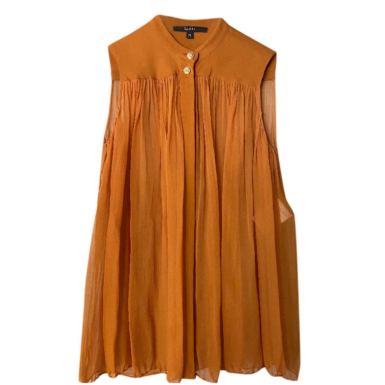 Gucci Golden Brown Sleeveless Shirt