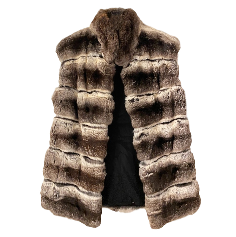 Avanti Chinchilla Fur Sleeveless Jacket