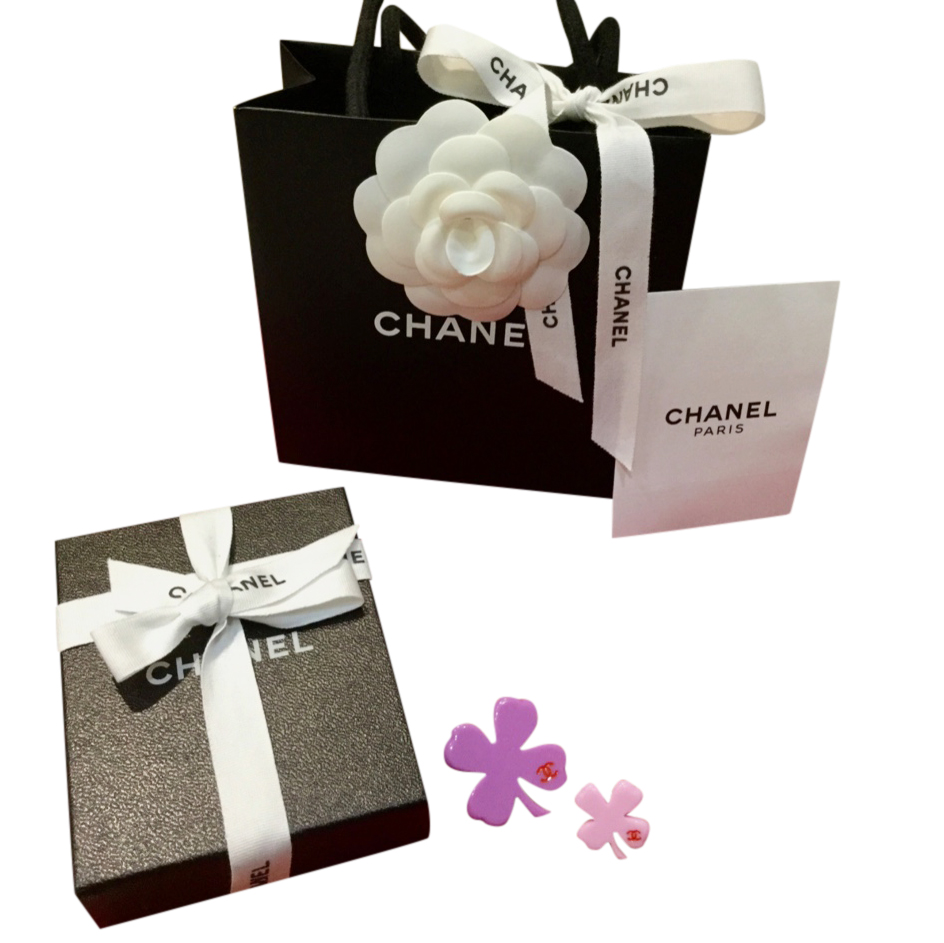Chanel Set of Two, Four Leaf Clover Pin Brooches