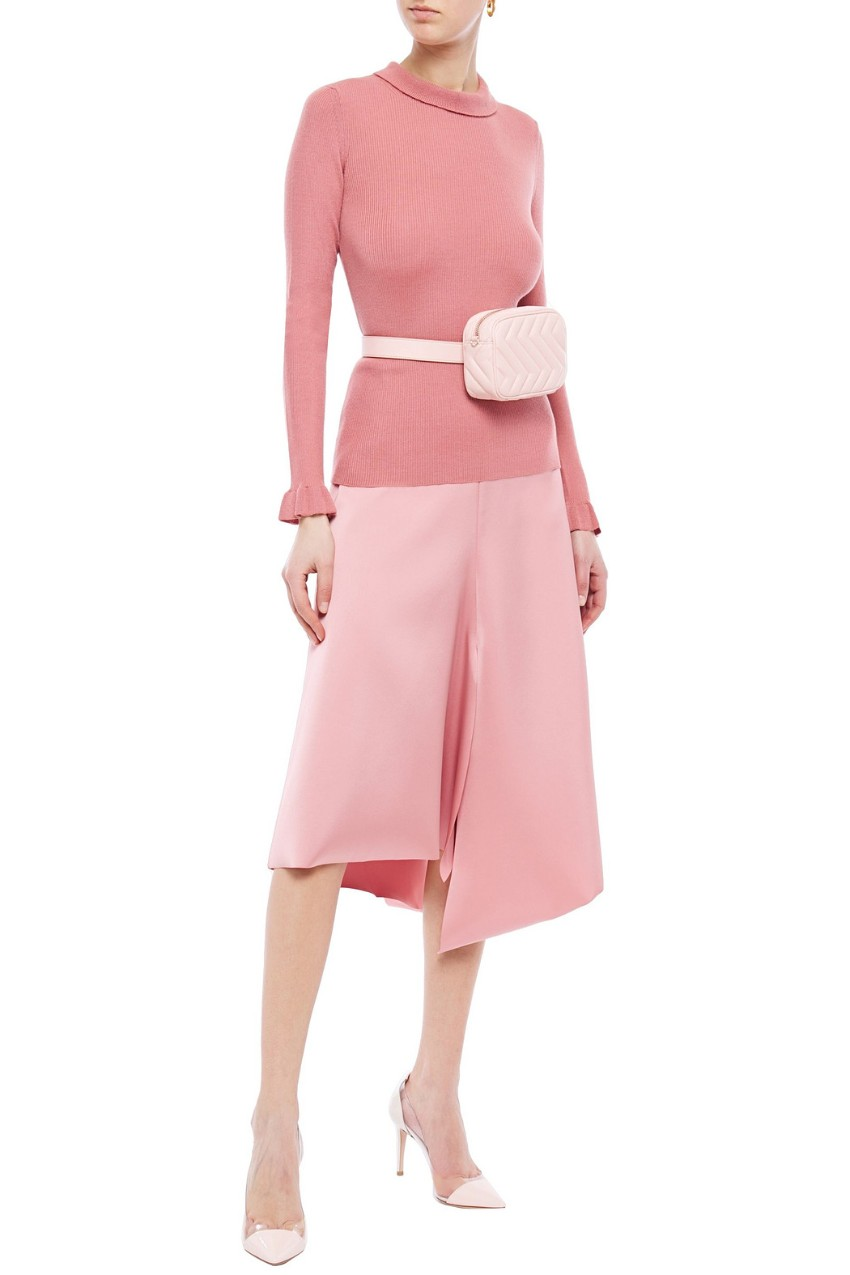 Red Valentino super soft  pink silk/cashmere blend antique rose top