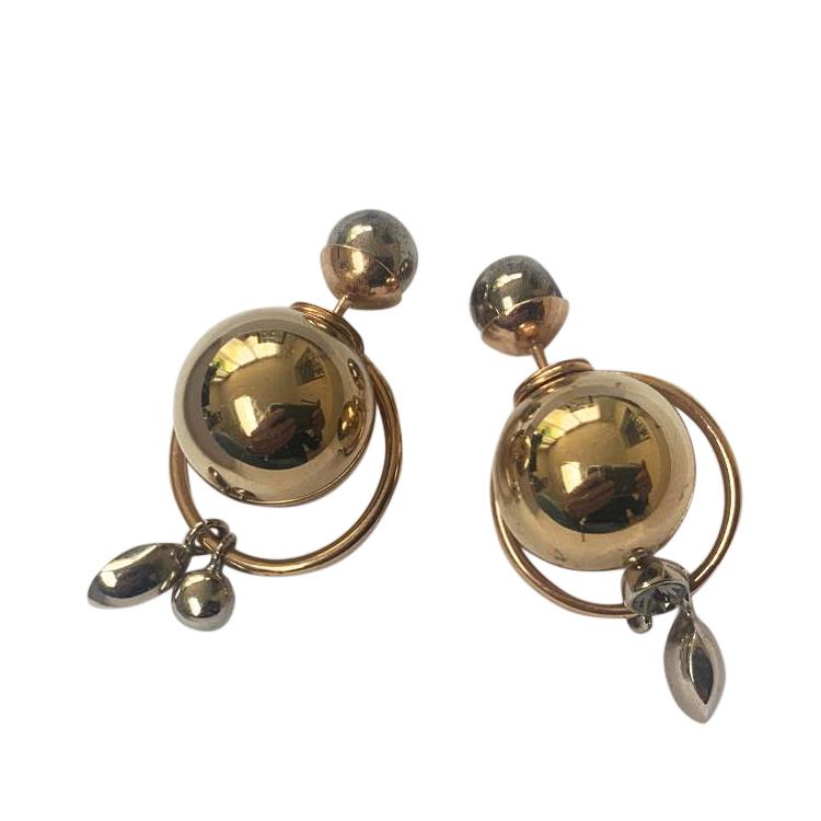 Dior Crystal Drop Mise En DIor Earrings