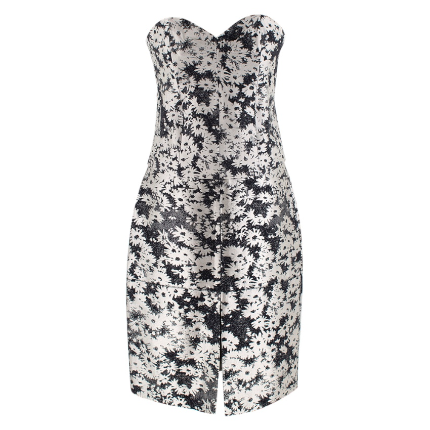 Stella McCartney Jacquard Floral Print Strapless Top and Skirt