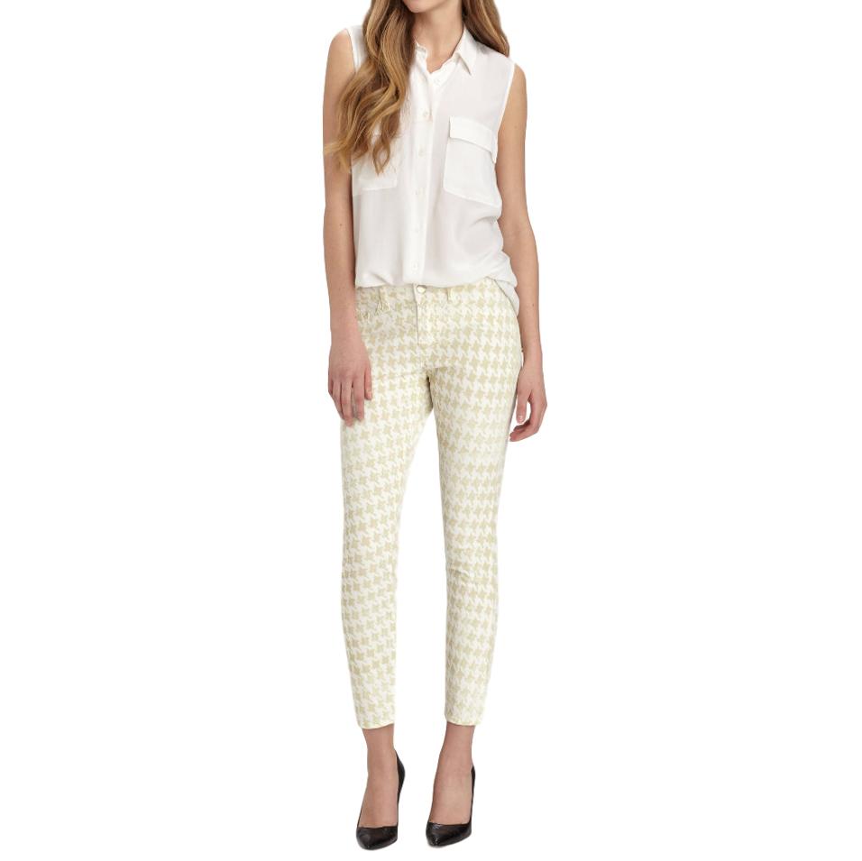 J Brand Houndstooth Print skinny jeans