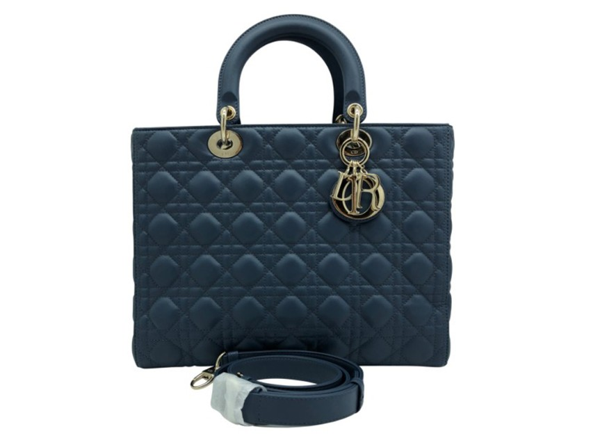 Dior Large Dior  Lady bag in Dark Denim Blue