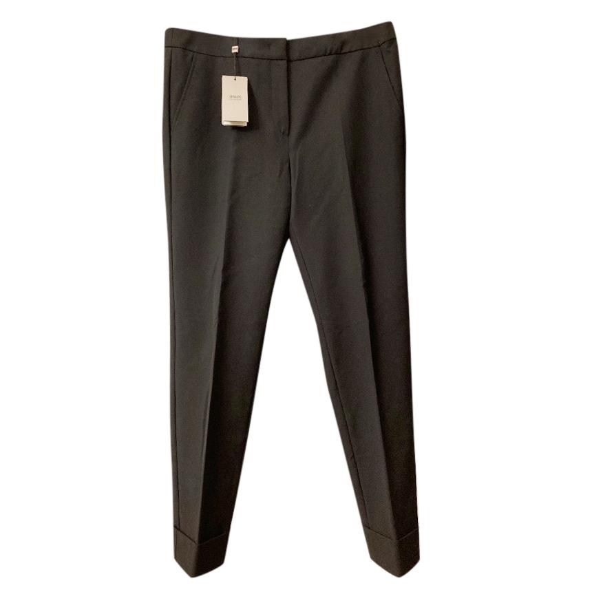 Armani Collezioni Black Tailored Stretch Pants