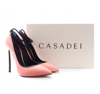 Casadei Duse Pink Blade Sandals