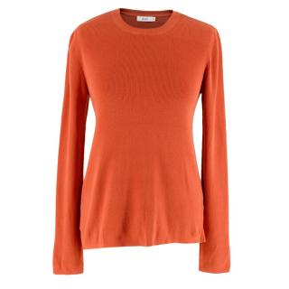 A.L.C. Orange Ribbed Knit Long Sleeve Top
