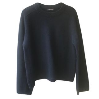 Max Mara Navy Wool & Cashmere Knit Jumper