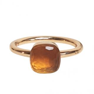 Pomellato Rose Gold Citrine Nudo ring