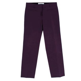 GChristian Dior Purple Tailored High Waisted Trousers