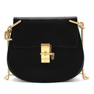 Chloe Black Drew Small Textured Leather Shoulder Bag