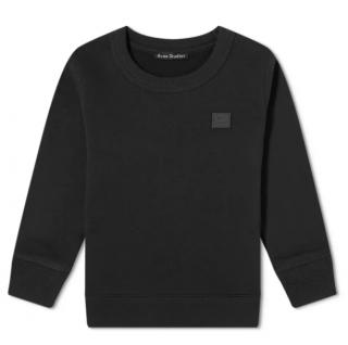 Acne Studios Black Cotton Round Neck Sweatshirt