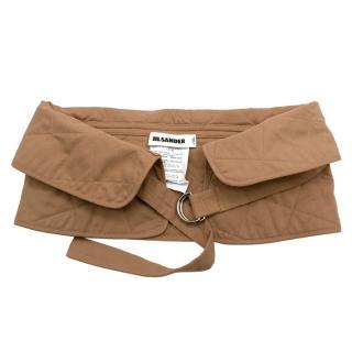 Jil Sander Beige Quilted Cotton Belt