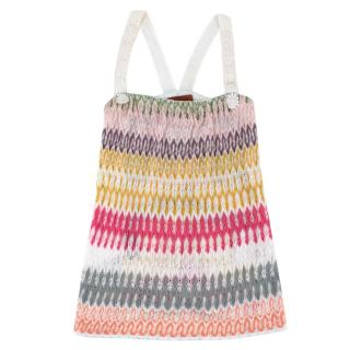 Missoni White Woven Multicolour Daisy Strap Dress