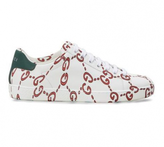 Gucci White Ace Ghost Sneakers