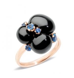 Pomellato Rose Gold Capri Ceramic & Sapphire RIng