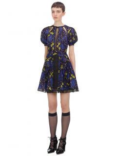Self Portrait Wildflower Printed Mini Dress