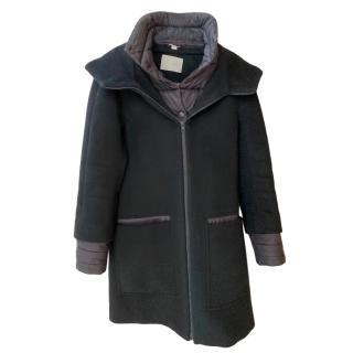 Soia & Kyo Wool Blend Hooded Coat & Puffer Vest