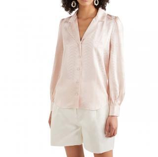 Temperley Pastel Pink Erika satin-jacquard shirt