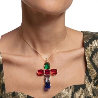 Thomas Sabo Multicolour Large Cross Pendant