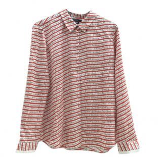 Scotch & Soda Red/Cream Printed Blouse