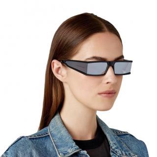 Caroline Lemke x Kim Kardashian Grey Tempest Mirrored Sunglasses