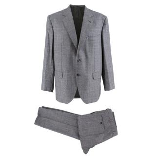 Donato Liguori Hand Tailored Grey Check Single Breasted Suit