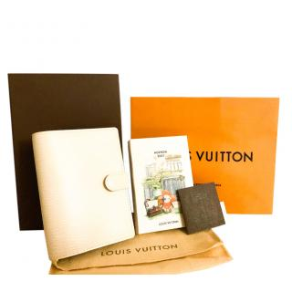 Louis Vuitton White Epi Leather Agenda & Murakami Print Refill