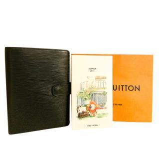 Louis Vuitton Black Epi Leather Agenda & Murakami Print Refill