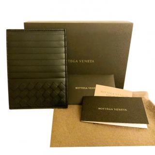Bottega Veneta Black Intrecciato Card Holder