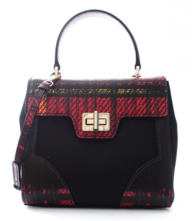Prada Tartan Print Saffiano Leather Technical Tote Bag