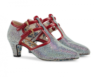 Gucci Crystal T-strap pumps - Permanent Collection