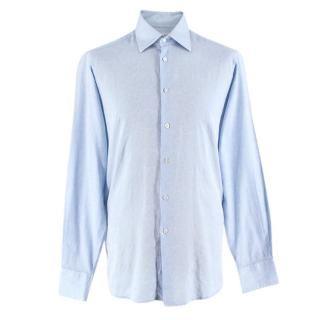 Richard James Pale Blue Cotton Paisley Shirt