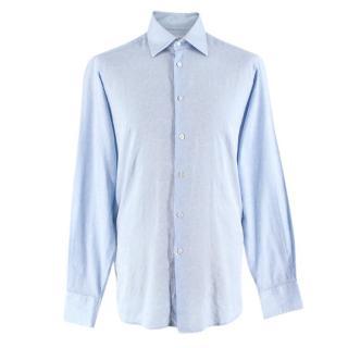 Richard James Pale Blue Cotton Paisley Shirt