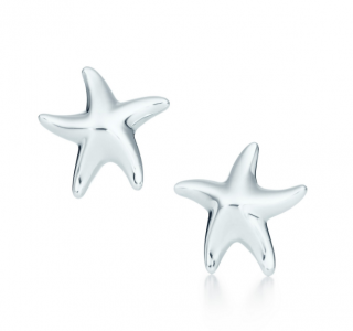 Tiffany & Co. Elsa Peretti Sterling Silver Starfish Earrings