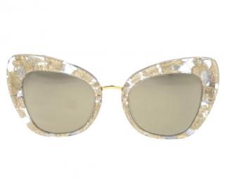 Dolce & Gabbana Gold Lace Sunglasses