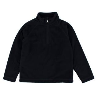 Moncler Navy Zipped Fleece Top
